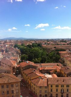 View from the top of Tower of Pisa, Italy