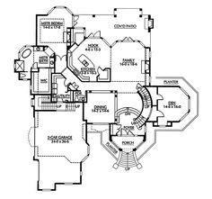 Luxury House Plan First Floor - 071D-0251 | House Plans and More