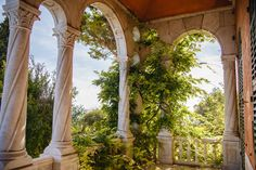 Overgrown arcades in Ventimiglia