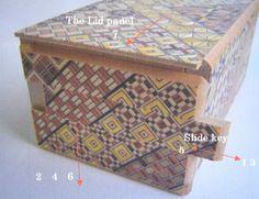puzzle box   japanese puzzle box with koyosegi pattern, handcrafted