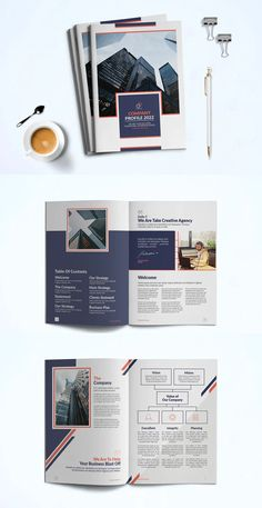 Company Profile Brochure Template InDesign INDD Brochure Design, Brochure Template, Company Profile Design Templates, Company Values, Business Planning, How To Plan, Creative, Flyer Design, Flyer Template