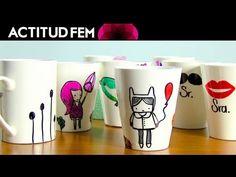 Tutorial: DIY tazas con sharpies | ActitudFEM