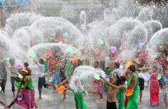 Songkran Water Festival - Thailand Festival Celebration, New Year Celebration, Laos, Songkran Thailand, Chaing Mai, Lamai Beach, Songkran Festival, Wild Waters, World Festival