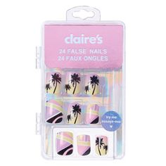 Shop Claire's for the latest trends in jewelry & accessories for girls, teens, & tweens. Find must-have hair accessories, stylish beauty products & more. Claire's Fake Nails, Fake Nails For Kids, Short Fake Nails, Kiss Nails, Kids Jewelry, Cute Jewelry, Miami Art Deco, Best Nail Art Designs, Bridal Nails