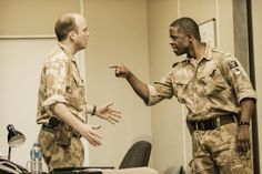 In the line of fire: Rory Kinnear as Iago and Adrian Lester as Othello