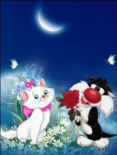 Love Images, Images Gif, Animated Cartoons, Animated Gif, Animation, Animals And Pets, Cute Animals, Beautiful Gif, Gif Animé