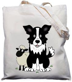 Collie Dog & Sheep Shoulder Bag