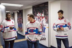The 2016 Winter Classic Jerseys.K Subban, Brendan Gallagher and Max Pacioretty Montreal Canadiens, Max Pacioretty, Hockey Sweater, Hockey Quotes, Hockey Season, Vegas Golden Knights, Tampa Bay Lightning, Los Angeles Kings, Hockey Players