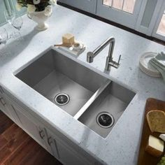 Deep Stainless Steel Double Kitchen Sink