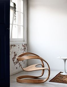 wooden chair, designed chair