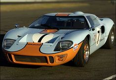 Ford GT40  Enduring Le Mans icon. Looks surprisingly small alongside the Ford GT that mimicked it in 2003.