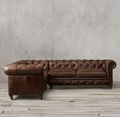 Petite Kensington Leather Sectionals | RH