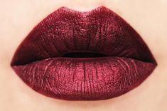 Bitten Metallic Dark Red Matte Liquid Lipstick by BeautyUndead. Sexy and seductive - makeup to seduce! Lipstick Art, Lipstick Dupes, Lipstick Swatches, Lipstick Colors, Red Lipsticks, Liquid Lipstick, Lip Colors, Metallic Lipstick, Bright Lipstick