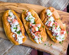 [Homemade] Lobster Rolls on king's Hawaiian buns Hot Dog Rolls, Hot Dog Buns, Hot Dogs, Hawaiian Buns, Kings Hawaiian, Burger Dogs, Burgers, Everything Is Awesome, Recipe Images