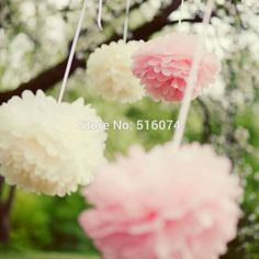 "Cheap pom pom pull bow, Buy Quality pom poms for crafts directly from China ball sea Suppliers: 	  	Descriptions: 	Wedding Decorative 25cm(10"")Props  Tissue Paper Poms Wed"
