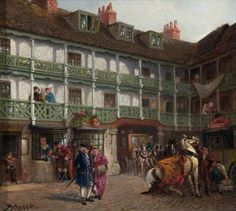 The Interior of 'La Belle Sauvage', Ludgate Hill by Rubens Arthur Moore