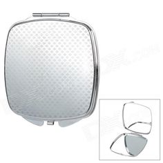 Make-up Folding Mirrors with Telescopic Airbags Massage Comb - Black Double Mirror, Cool Gadgets, Stainless Steel Case, Mirrors, Massage, Make Up, Cosmetics, Cool Stuff, Silver