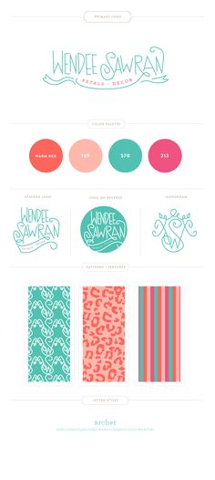 Wendee Sawran Branding Design by Emily McCarthy   Floral and Event Designer