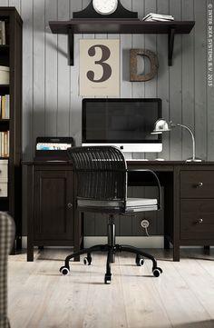Een elegant bureau #IKEA #HEMNES #werkplek