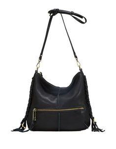 161f9937281c Sanctuary Venice Boho Leather Crossbody Bag Women s Black Crossbody  Shoulder Bag