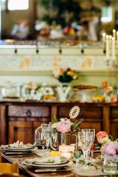 Une très jolie inspiration pour un mariage vintage ou un mariage romantique