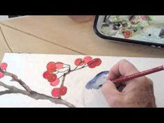 Watercolor Painting Winter Bird Lesson 3
