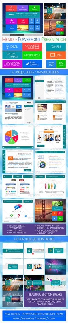 Memo - Powerpoint Presentation Template