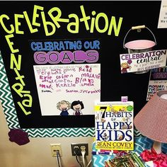 How do you CELEBRATE mastering goals? We love the way @missingtoothgrins1 has her Celebration Central set up! #classroompinspirations #teachergoals