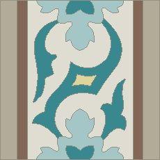Custom encaustic tile border