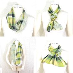 SALE Plaid Scarf Infinity Scarf Circle Scarf Gift by Fibernique (€14) ❤ liked on Polyvore featuring gift cards