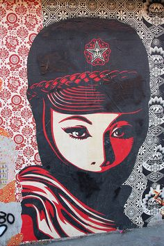 """Street art awesome """"Obey"""" piece"""