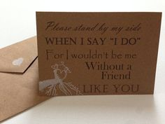 Be My Bridesmaid Cards Be My Maid of Honor by SweetThreesBoutique