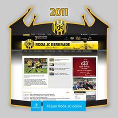 Screen www.rodajc.nl anno 2011.   Roda J.C. eindigde het seizoen '10/'11 op een verdienstelijke 6de plek in de Eredivisie. Trainer Harm van Veldhoven had met spits Mads Junker goud in handen: de Deen scoorde in 32 competitiewedstrijden maarliefst 20x.  In april 2011 werd N.A.C. op een 5-1 nederlaag getrakteerd, Junker scoorde 2x.