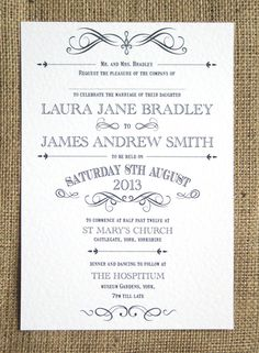 Rustic Wedding Invitation. £2.00, via Etsy.