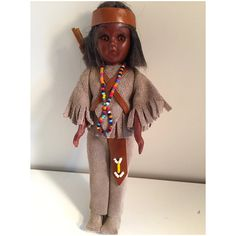 Vintage 1960s Carlson Native American Indian Doll