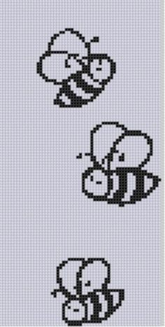 Buzzing Bees Cross Stitch Pattern pattern on Craftsy.com