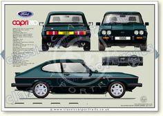 Ford Capri MkIII Capri 280 1986 classic car portrait print