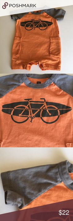 EUC Tea Collection Boys Bike & Surf Romper 6-9 mo EUC Tea Collection Boys Bike & Surf Romper 6-9 months! Another one that my twins have outgrown but still are in excellent condition and have tons of life left! Only 1-2 wears before they were too tall/long for this adorable romper! MINOR wash and wear - if any. Super cute color block design. Reasonable offers welcome 🚲🤖🎪 Tea Collection One Pieces Bodysuits