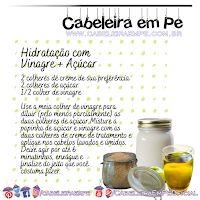 Hidratação com Vinagre de Maçã e Açúcar Salt, Food, Apple Cider Vinegar Hair, Aloe Vera, Recipes, Essen, Salts, Meals, Yemek