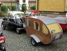 Adorbz! -- Kre.  Isetta plus Teardrop - minicar heaven.