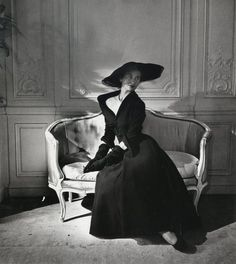 Model in Christian Dior Dress Abandon, 1948/1949 by Willy Maywald