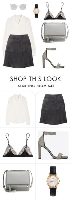 """Untitled #3639"" by suhling ❤ liked on Polyvore featuring Vanessa Bruno, Title A, Maison Close, Yves Saint Laurent, Givenchy, American Apparel and Kosha"