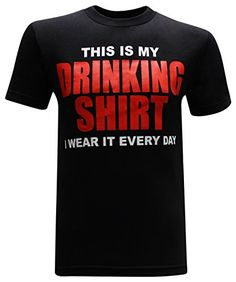 This is My Drinking Shirt Funny Men's T-Shirt fast shipping good quality fabric designed to last a lifetime proudly printed in the USA with North American garment makes a great gift! Beer Humor, Man Humor, Funny Humor, Funny Drinking Shirts, Funny Outfits, Funny Clothes, T Shorts, Beer Shirts, Funny Tees