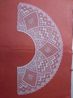 Cómo hacer abanicos de encaje de bolillos - PLANTILLAS ABANICOS BOLILLOS GRATIS - El Cómo de las Cosas Bobbin Lace Patterns, Embroidery Patterns, Sewing Patterns, Crochet Patterns, Crochet Art, Free Crochet, Crochet Lace Collar, Bobbin Lacemaking, Lace Heart