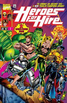 Heroes for Hire # 1 Marvel Comics Vol. Comic Book Characters, Comic Character, Comic Books Art, Comic Art, Marvel Characters, Gi Joe, Marvel Heroes, Marvel Comics, Iron Fist Powers