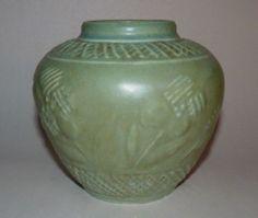 1945 Rookwood Art Pottery 6761 Matte Green Vase Perfect Free SHIP | eBay