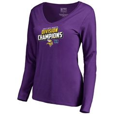 ca701e7c4 Women s Minnesota Vikings NFL Pro Line by Fanatics Branded Purple 2017 NFC  North Division Champions Long