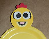 This is from Etsy, could be perfect for McKinley's B-day. Chica The Chicken Inspired Plate Decoration (set of 8)