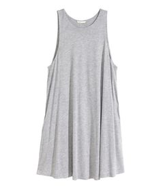 Check this out! Sleeveless dress in an A-line cut in jersey with slightly deeper armholes, a double layer of fabric at the top and pockets in the side seam. - Visit hm.com to see more.