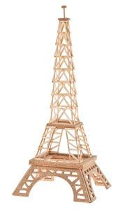Eiffel tower Kit for children to Promote Your by Kidswoodgame
